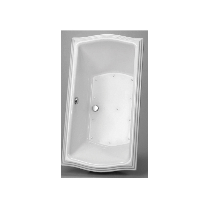 Toto® ABR789T#12YBN Clayton™ Left Blower Bathtub With Brushed Nickel Grab Bar, Air Bath, Rectangular, 66 in L x 36 in W, Center Drain, Sedona Beige