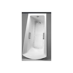 Toto® ABR964T#12YBN Soiree® Left Blower Bathtub With Brushed Nickel Grab Bar, Air Bath, Rectangular, 72-3/8 in L x 39-1/2 in W, Right Hand Drain, Sedona Beige