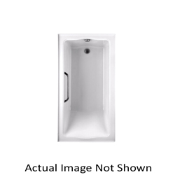 Toto® ABY782P#01N2 Clayton™ Tile-In Bathtub With (2) Tiling Flange, Soaking, Rectangular, 60 in L x 32 in W, Left Hand Drain, Cotton