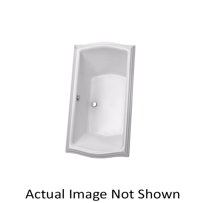Toto® ABY784N#01YBN Clayton™ Bathtub With Brushed Nickel Grab Bar, Soaking, Rectangular, 71-5/8 in L x 35-7/8 in W, Center Drain, Cotton