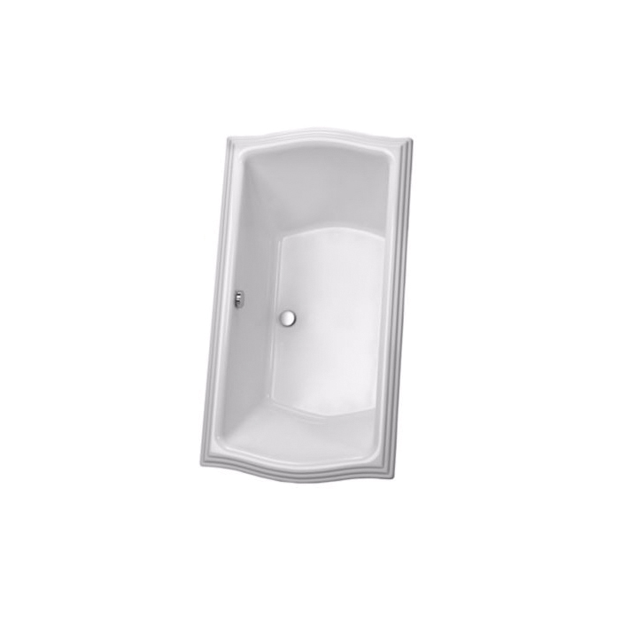 Toto® ABY784N#12N Clayton™ Bathtub, Soaking, Rectangular, 71-5/8 in L x 35-7/8 in W, Center Drain, Sedona Beige