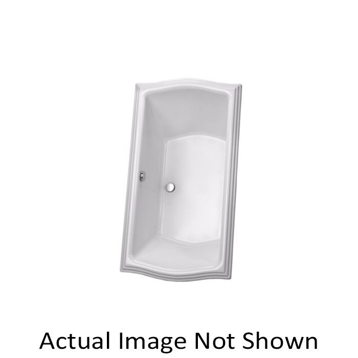Toto® ABY785N#12YCP Clayton™ Bathtub With Polished Chrome Grab Bar, Soaking, Rectangular, 66 in L x 34 in W, Center Drain, Sedona Beige