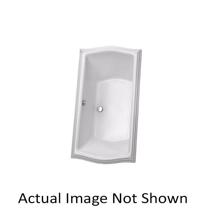 Toto® ABY789N#12YBN Clayton™ Bathtub With Brushed Nickel Grab Bar, Soaking, Rectangular, 66 in L x 34 in W, Center Drain, Sedona Beige