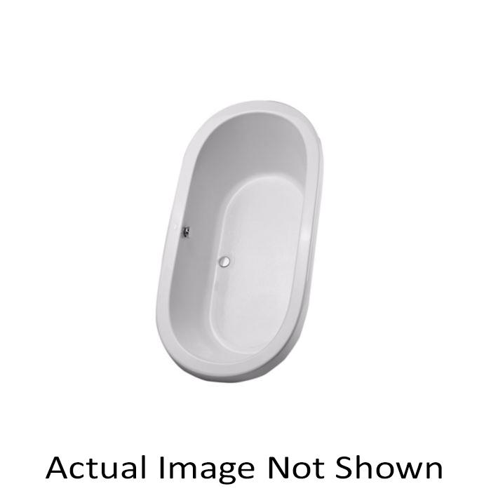 Toto® ABY794N#01N Nexus® Bathtub, Soaking, Oval, 71-3/8 in L x 35-7/16 in W, Center Drain, Cotton