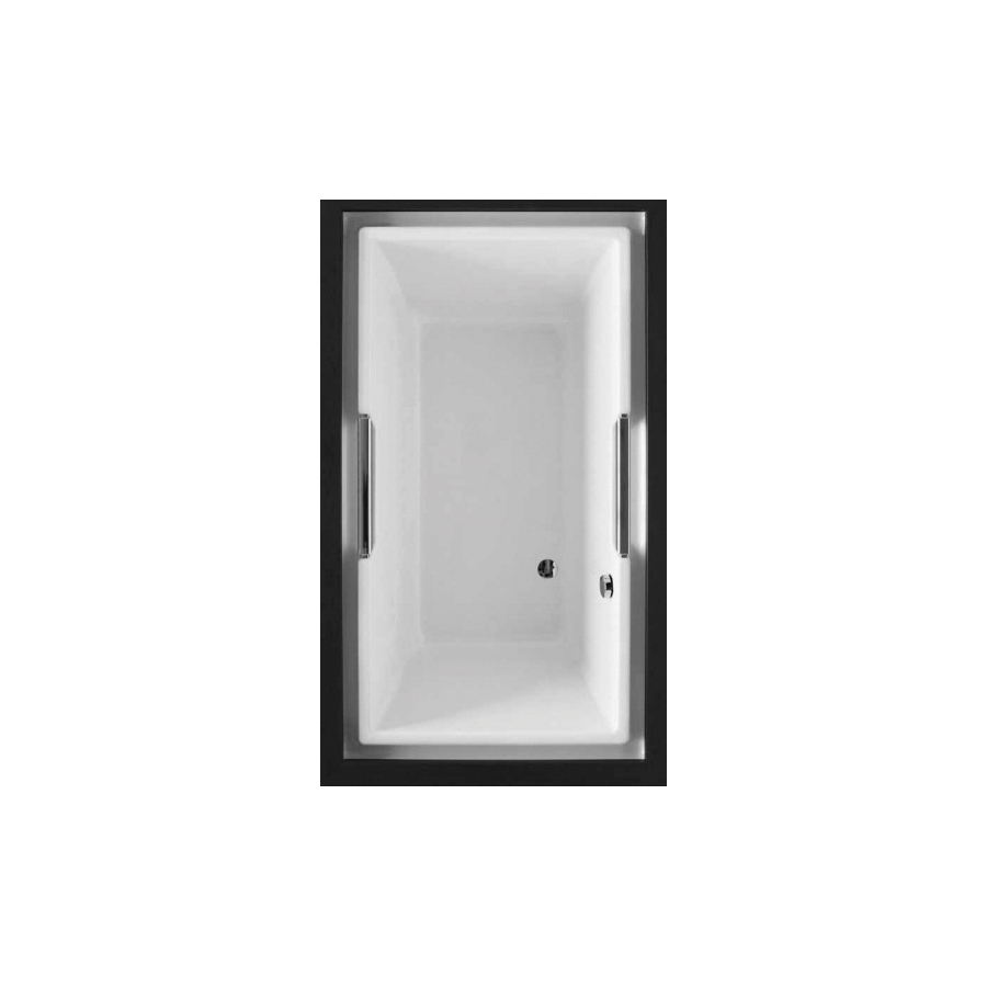 Toto® ABY930N#01YPN Lloyd™ Bathtub With Polished Chrome Grab Bar, Soaking, Rectangular, 72 in L x 42 in W, Right Drain, Cotton