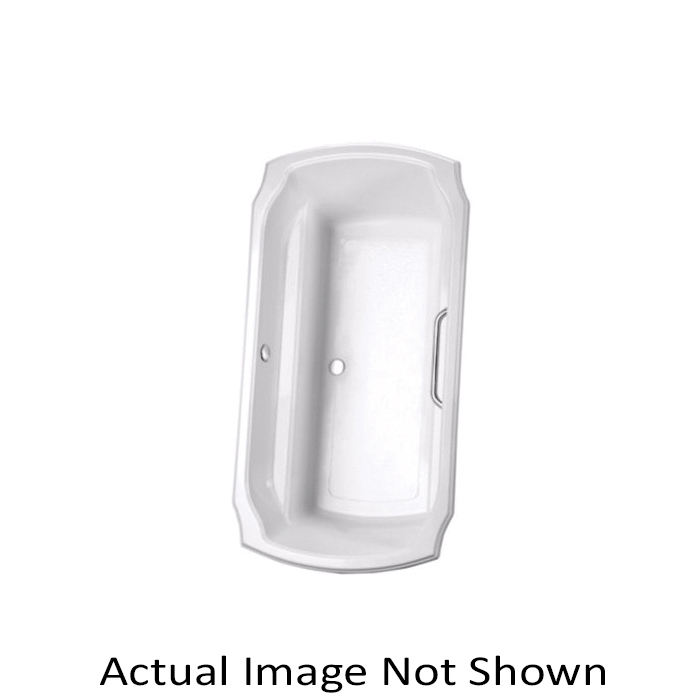 Toto® ABY974N#01N Guinevere™ Bathtub, Soaking, Rectangular, 71-1/2 in L x 38 in W, Center Drain, Cotton