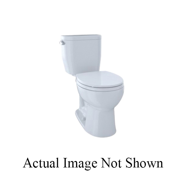 Toto® C243EF#01 Entrada™ Toilet Bowl, Round, 8-3/8 x 10-1/2 in Water Surface, 17-1/4 in H Rim, 2-1/8 in Trapway, Import