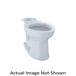Toto® C244EF#01 Entrada™ Toilet Bowl, Elongated Front, 8-3/8 x 10-1/2 in Water Surface, 17-1/4 in H Rim, 2-1/8 in Trapway, Import