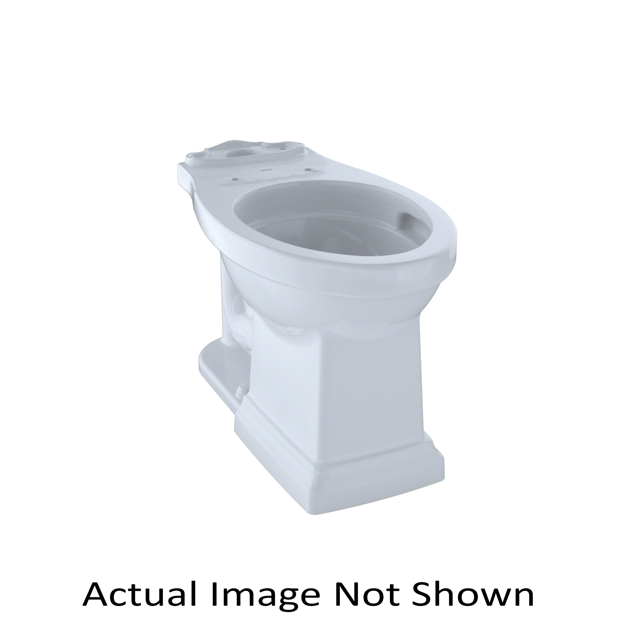 Toto® C404CUFG#03 Promenade® II Toilet Bowl, Elongated, 6-3/4 x 9 in Water Surface, 17-1/4 in H Rim, 2-1/8 in Trapway, Domestic