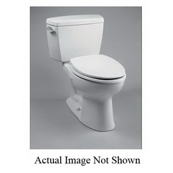 Toto® C744E#01 Toilet Bowl, Elongated, 8-1/2 x 10-1/4 in Water Surface, 15-5/8 in H Rim, 2-1/8 in Dia Trapway, Import