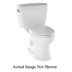 Toto® C744EL#01 Toilet Bowl, Elongated, 8-1/4 x 10-3/8 in Water Surface, 17-5/8 in H Rim, 2-1/8 in Dia Trapway, Import