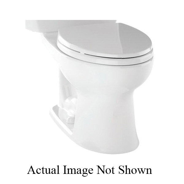 Toto® C744EL#11 Toilet Bowl, Elongated Front, 8-1/4 x 10-3/8 in Water Surface, 17-5/8 in H Rim, 2-1/8 in Trapway, Import
