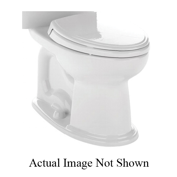 Toto® C754EF#12 Toilet Bowl, Elongated Front, 8-1/4 x 10-3/8 in Water Surface, 17-1/4 in H Rim, 2-1/8 in Trapway, Import