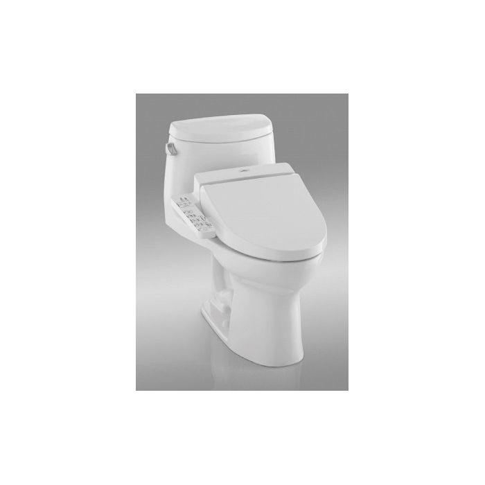 Toto® CST604CEFGT20#01 UltraMax® II Connect+™ High Efficiency Universal Height One-Piece Toilet With Washlet® C100 Connect+, Elongated Bowl, 17-5/8 in H Rim, 1.28 gpf, Cotton