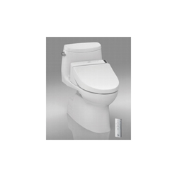 Toto® CST614CEFGT20#01 Carlyle® II Connect+™ High Efficiency Universal Height One-Piece Toilet With Washlet® C200 Connect+, Elongated Bowl, 17-5/8 in H Rim, 1.28 gpf, Cotton