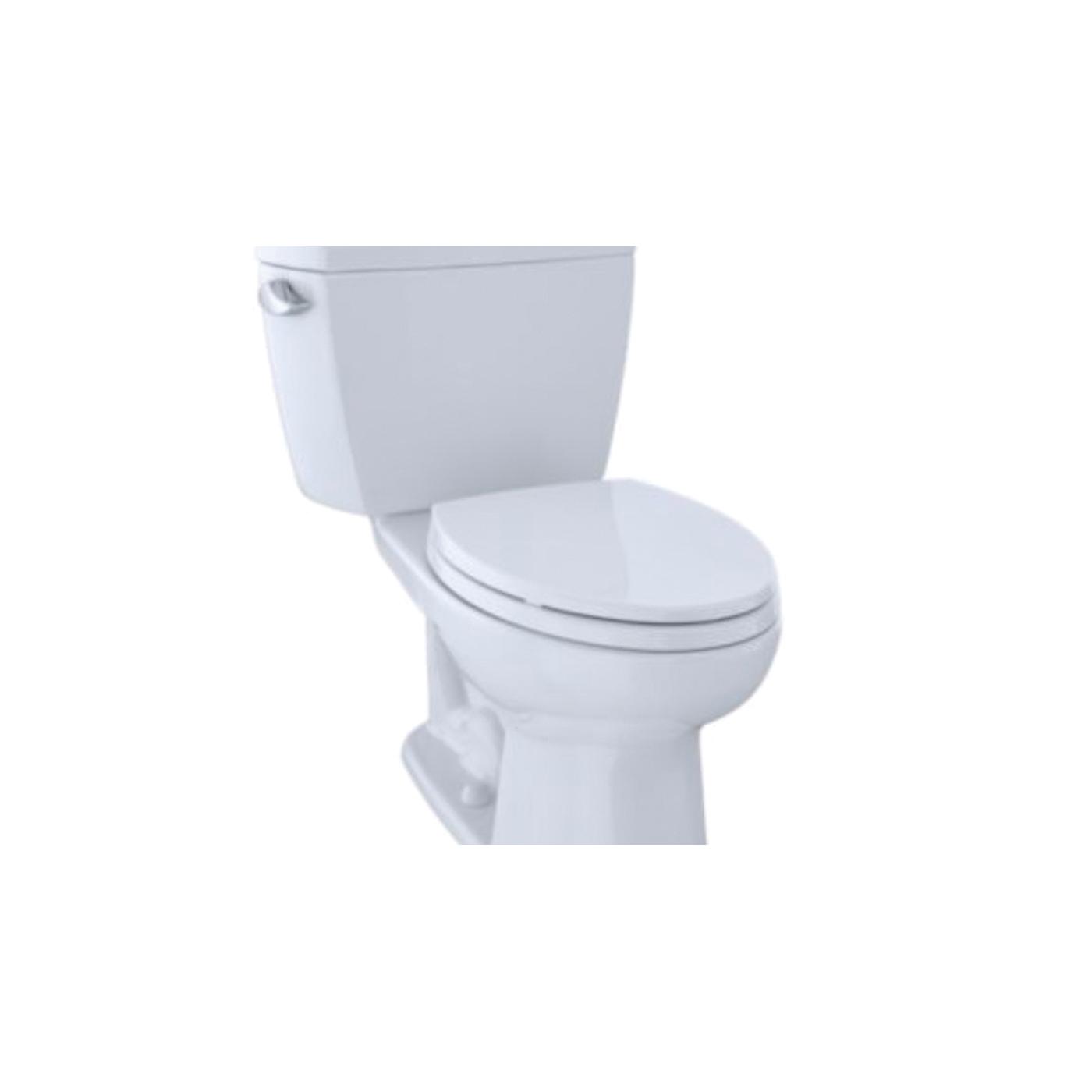 Toto® Eco Drake® CST744E#01 2-Piece Close Coupled Toilet, Elongated Front Bowl, 15-5/8 in H Rim, 1.28 gpf, Cotton