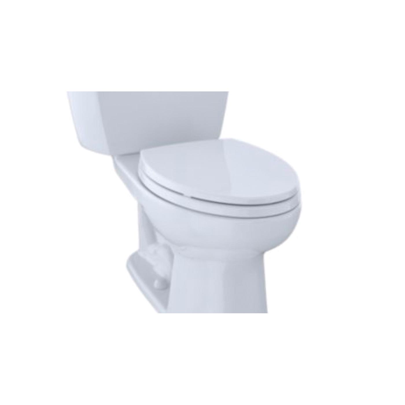 Toto® Eco Drake® CST744EL#01 2-Piece Close Coupled Toilet, Elongated Front Bowl, 17-5/8 in H Rim, 1.28 gpf, Cotton