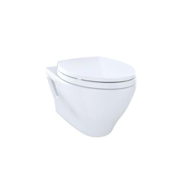 Toto® CT418F#01 Aquia® Wall-Hung Toilet, Elongated, 0.9/1.6 gpf, Cotton