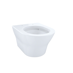 Toto® CT437FG#01 MH Wall-Hung Toilet, D-Shape, 0.9/1.28 gpf, Cotton, Import