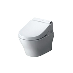 Toto® CT437FGT20#01 MH Connect+™ Wall-Hung Toilet, D-Shape, 16-1/8 in H Rim, 0.9/1.28 gpf, Cotton