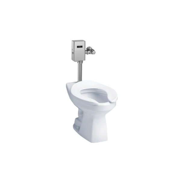 Toto® CT705ENG#01 High Efficiency Flushometer Toilet With Flushometer Valve, Elongated Bowl, 15 in H Rim, 1.28 gpm, Cotton