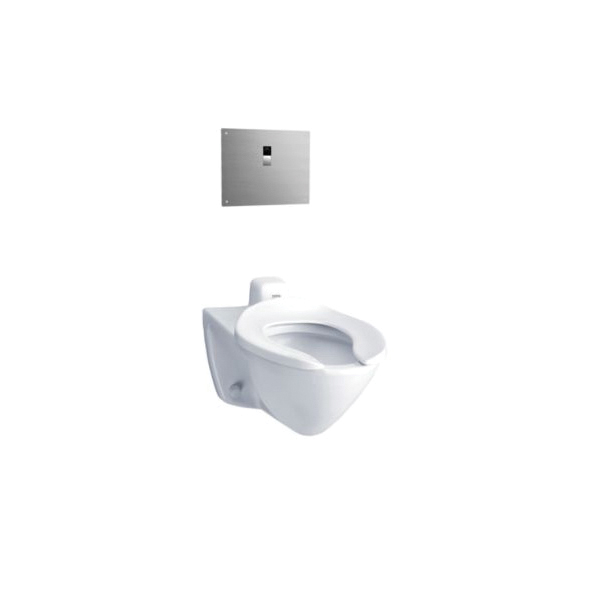 Toto® CT708EV#01 High Efficiency Flushometer Toilet With Back Spud Inlet, Elongated Bowl, 17 in H Rim, 1.28 gpm, Cotton