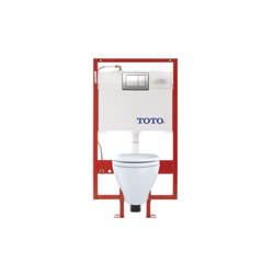Toto® CWT418MFG-1#01 Aquia® Universal Height Wall-Hung Toilet, Elongated, 0.9/1.6 gpf, Cotton, Import