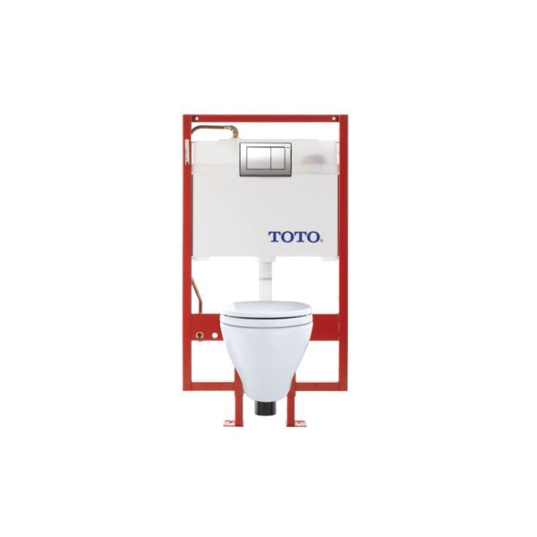 Toto® CWT418MFG-2#01 Aquia® Universal Height Wall-Hung Toilet, Elongated, 0.9/1.6 gpf, Cotton, Import