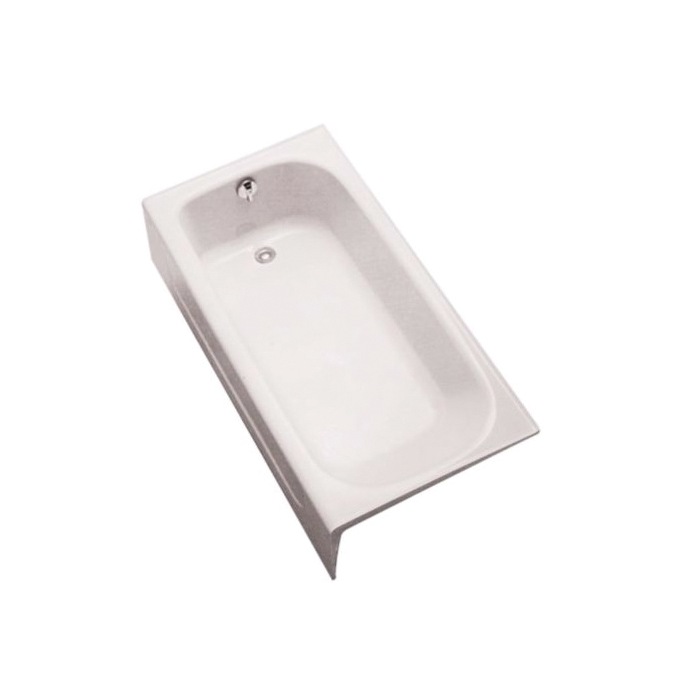Toto® FBY1515LP#01 Bathtub, Soaking, Rectangular, 59-3/4 in L x 30 in W, Left Hand Drain, Cotton