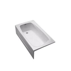 Toto® FBY1525LP#01 Bathtub, Soaking, Rectangular, 59-3/4 in L x 32 in W, Left Hand Drain, Cotton