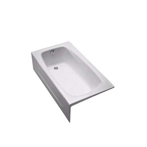 Toto® FBY1525RP#01 Bathtub, Soaking, Rectangular, 59-3/4 in L x 32 in W, Right Drain, Cotton