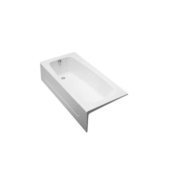 Toto® FBY1715LP#01 Bathtub, Soaking, Rectangular, 65-3/4 in L x 32 in W, Left Hand Drain, Cotton