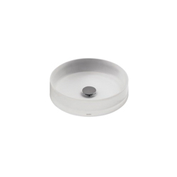 Toto® LLT150#61 Luminist® Vessel Lavatory Without Overflow, Round, 15-3/4 in W x 15-3/4 in D, Epoxy Resin, Frosted White