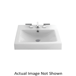 Toto® LT155#01 Vernica® Design II Vessel Lavatory With Rear Overflow, Rectangular, 20 in W x 18 in D, Fireclay, Cotton