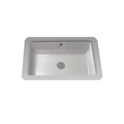 Toto® LT156#01 Vernica® Design I Lavatory Sink With Rear Overflow, Rectangular, 21-1/2 in W x 14-1/8 in D, Undercounter Mount, Fireclay, Cotton, Import