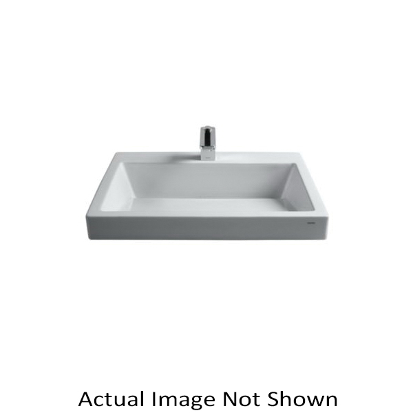 Toto® LT171.8G#01 Kiwami® Renesse® Design I Vessel Lavatory, Rectangular, 8 in Faucet Hole Spacing, 23-5/8 in W x 17-11/16 in D x 6-11/16 in H, Fireclay, Cotton