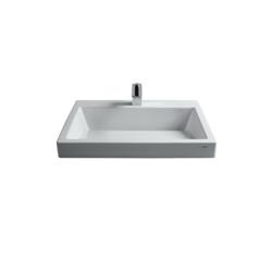 Toto® LT171G#01 Kiwami® Renesse® Design I Vessel Lavatory, Rectangular, 23-5/8 in W x 17-11/16 in D x 6-11/16 in H, Fireclay, Cotton