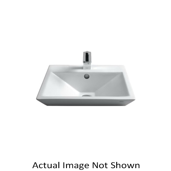 Toto® LT172.8G#01 Kiwami® Renesse® Design II Vessel Lavatory, Rectangular, 8 in Faucet Hole Spacing, 18-1/8 in W x 18-1/8 in D x 7 in H, Fireclay, Cotton