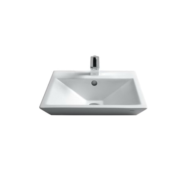 Toto® LT172G#01 Kiwami® Renesse® Design II Vessel Lavatory, Rectangular, 18-1/8 in W x 18-1/8 in D x 7 in H, Fireclay, Cotton