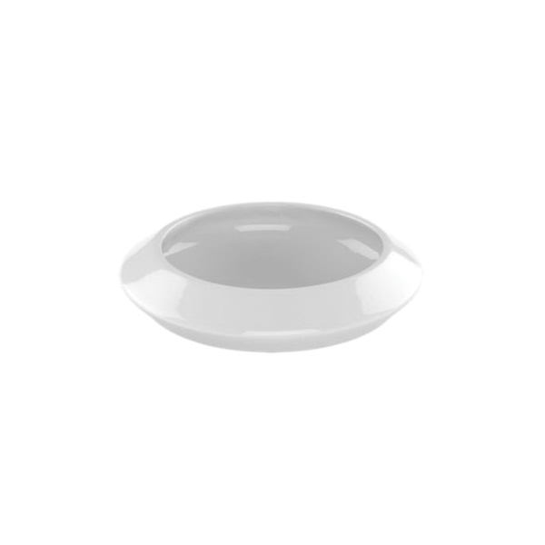 Toto® LT185#01 Curva™ Vessel Lavatory With Rear Overflow, Circular, 6-5/16 in H, Vitreous China, Cotton