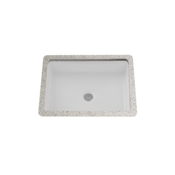 Toto® LT221#01 Atherton™ Lavatory Sink With Front Overflow, Rectangular, 21-3/8 in W x 16-3/8 in D, Undercounter Mount, Vitreous China, Cotton