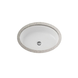 Toto® LT231#01 Atherton™ Lavatory Sink With Front Overflow, Oval, 20-3/4 in W x 17 in D, Undercounter Mount, Vitreous China, Cotton