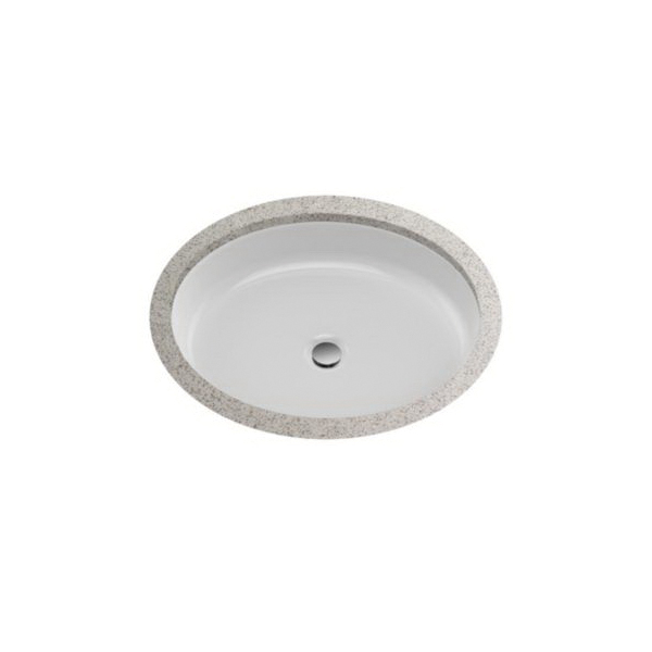 Toto® LT233#01 Atherton™ Lavatory Sink With Front Overflow, Oval, 22-5/8 in W x 18-3/8 in D, Undercounter Mount, Vitreous China, Cotton