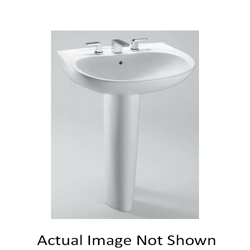 Toto® LT242#51 Prominence® Elegant Lavatory With Rear Overflow, Oval, 26 in W x 21-1/2 in D, Wall-Hung Mount, Vitreous China, Ebony