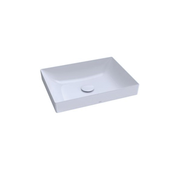 Toto® LT475G#01 Kiwami® Vessel Lavatory With Front Overflow, Rectangular, 19-11/16 in W x 14-15/16 in D, Cotton