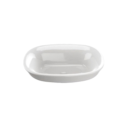 Toto® LT480G#01 Maris™ Vessel Lavatory With Rear Overflow, Oval, 19-1/2 in W x 15-5/32 in D x 6-7/8 in H, Semi-Recessed Mount, Vitreous China, Cotton