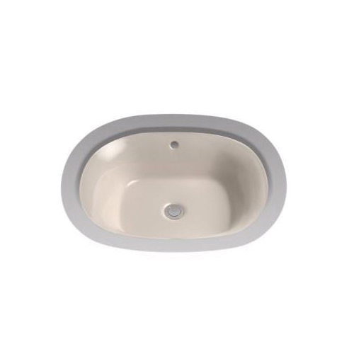Toto® LT483G#03 Maris™ Lavatory Sink, Oval, 20 in W x 17 in D, Undercounter Mount, Vitreous China, Bone