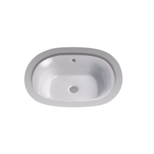 Toto® LT483G#11 Maris™ Lavatory Sink, Oval, 20 in W x 17 in D, Undercounter Mount, Vitreous China, Colonial White