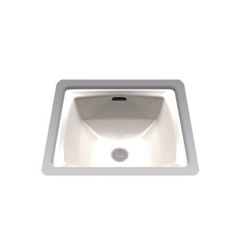 Toto® LT491G#12 Connelly® Lavatory Sink With Rear Overflow, Square, 17 in W x 17 in D, Undercounter Mount, Vitreous China, Sedona Beige