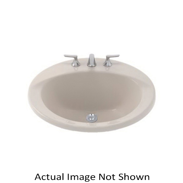 Toto® LT512G#12 Ultimate® Self-Rimming Lavatory With Consealed Front Overflow, Circular, 19 in W x 19 in D, Drop-In Mount, Vitreous China, Sedona Beige